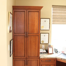 Transitional Home Office by Kitchen Saver
