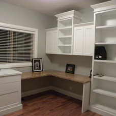 Traditional Home Office by Insite Custom Cabinets & Millwork Ltd.