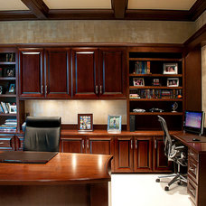 Traditional Home Office by J. Powless Fine Cabinetry