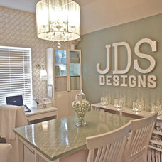 Traditional Home Office by JDS DESIGNS