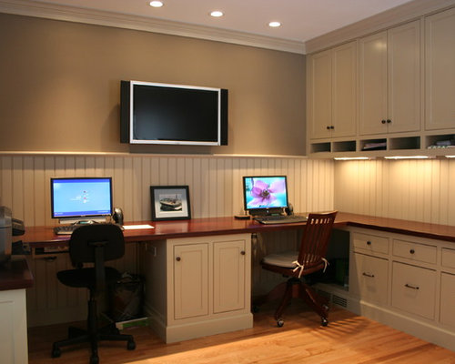 Dual office space home design ideas pictures remodel and for Home office design layout