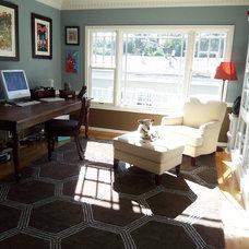 Contemporary Home Office by Jill Seidner Interior Design