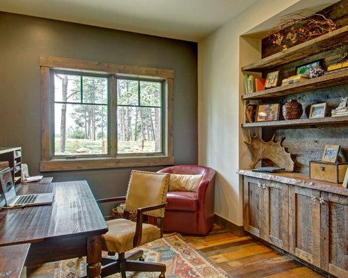 Rustic Office Houzz