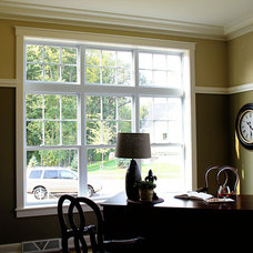 Traditional Home Office by K Architectural Design, LLC