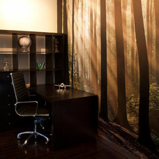 Contemporary Home Office by Kimberley Morris Interior Design
