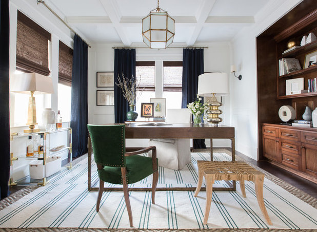 Contemporary Home Office by Marie Flanigan Interiors