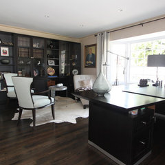 eclectic home office by Nina sobiNina Design