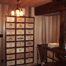 Traditional Home Office by Winepine