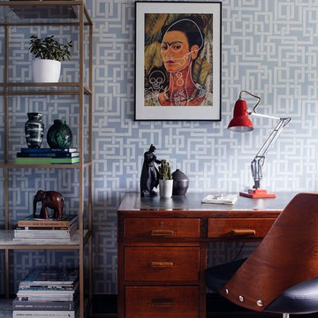 Home office Makeover - Midcentury styling