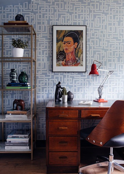 Midcentury Home Office by Seasons in Colour