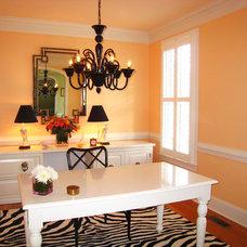 Transitional Home Office by MANDARINA STUDIO interior design