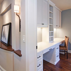Transitional Home Office by Modern Design LLC