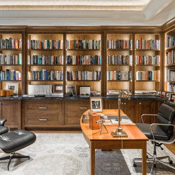 Home Office - Needham Custom Home - 01