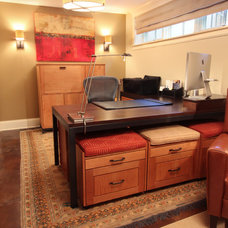 Traditional Home Office by Not Vanilla Interiors LLC