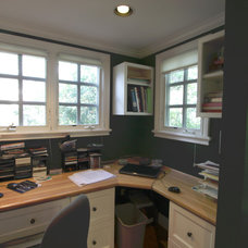 Eclectic Home Office by Nunley Custom Homes