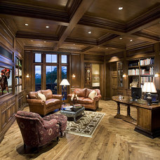 Traditional Home Office by R.J. Gurley Construction