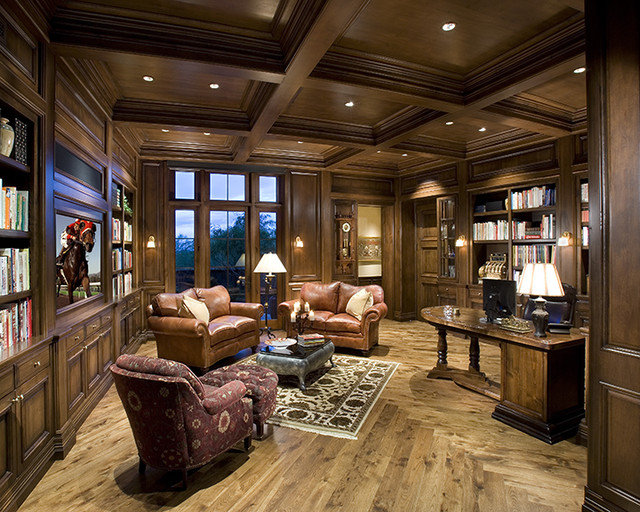 Traditional Home Office by R.J. Gurley Custom Homes