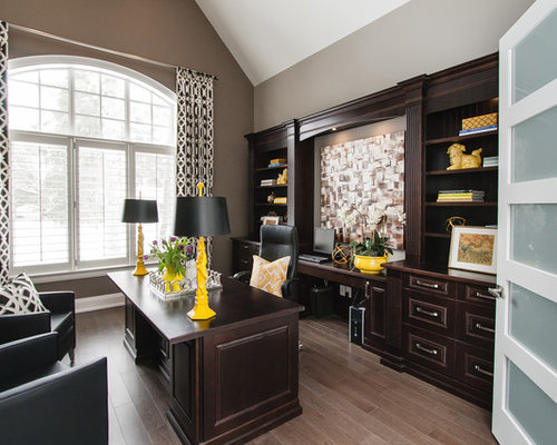 Transitional bristol home office design ideas remodels for Office design bristol
