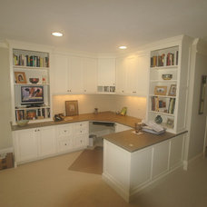 Traditional Home Office by Rogers Cabinets