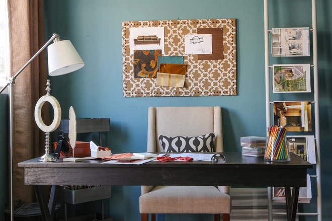 Contemporary Home Office by Sanctuary Interiors