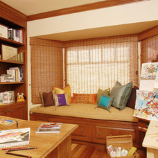 Eclectic Home Office by SH interiors
