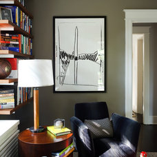 Contemporary Home Office by Sightline Art Consulting
