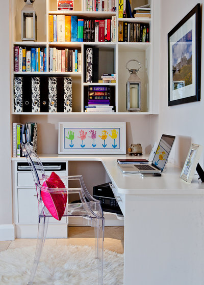 Contemporary Home Office & Library by Skyway Interiors Ltd