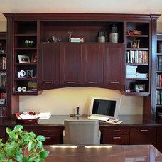Traditional Home Office by Denise Glenn Interior Design