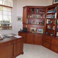 Traditional Home Office by Inndesign Inc