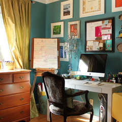 eclectic home office by Story & Space - Interior Design and Color Guidance
