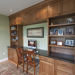 traditional home office by Pine Street Carpenters & The Kitchen Studio