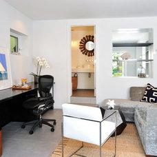 Contemporary Home Office by Kelley Flynn Interior Design