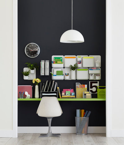 9 hacks for a clutter free home office - Container store home office ...