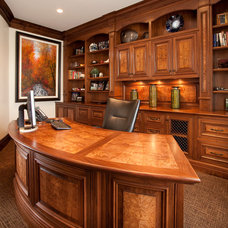 Traditional Home Office by THINK architecture Inc.