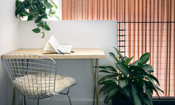 Home Office w/ Plywood Table