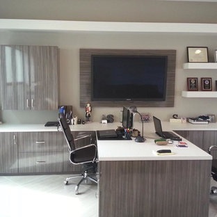 Modern home office design Masculine Home Office Modern Home Office Idea In Miami Houzz 75 Most Popular Modern Home Office Design Ideas For 2019 Stylish