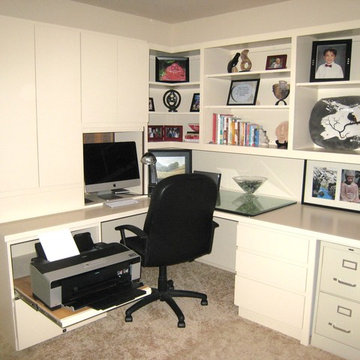 Home Office - white cabinets