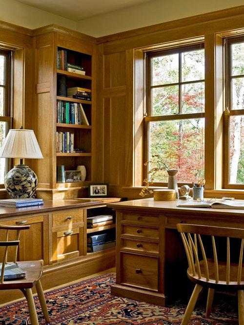 SaveEmail - Wood Panel Office Houzz
