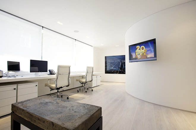 Modern Home Office by Olive Audio Visual