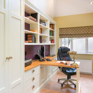 Home Office with custom cabinetry