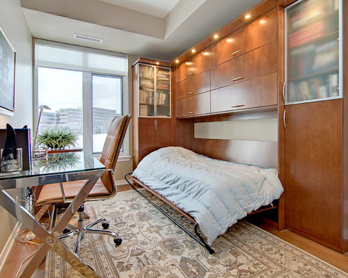 bedroom office ideas. Contemporary freestanding desk medium tone wood floor home office idea in  Ottawa with beige walls Bedroom Office Houzz
