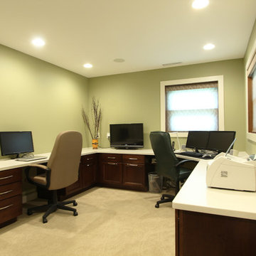 Home Office with Two Workspaces