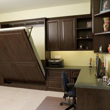 Home Office with Wall Bed - Traditional