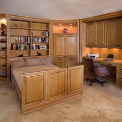 traditional home office by Peter Medvin