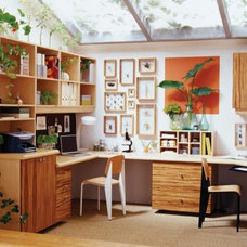 Eclectic Home Office by California Closets of Louisville and Lexington