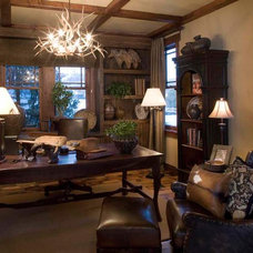 Traditional Home Office by Christopher Homes
