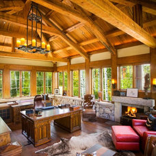 Rustic Home Office by Christopher Homes