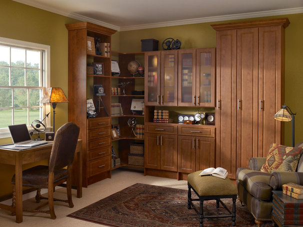 Traditional Home Office by Distinctive Closets