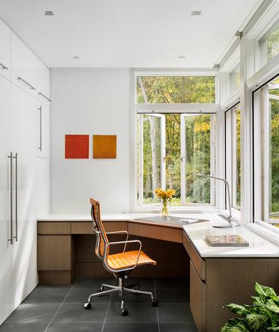 Contemporary Home Office by Amanda Martocchio Architecture