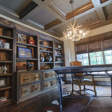 Rustic Home Office by Blalock Homes LLC